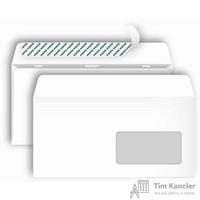 Конверт почтовый Postfix Bong Е65 (110x220 мм) белый удаляемая лента правое окно (1000 штук в упаковке)