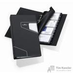Визитница настольная Durable Visifix Pro искусственная кожа на 200 визиток черная