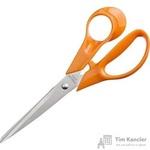 Ножницы Attache Orange 177 мм с пластиковыми анатомическими ручками оранжевого цвета