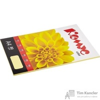 Бумага цветная для офисной техники Комус Color желтая пастель (А4, 80 г/кв.м, 50 листов)