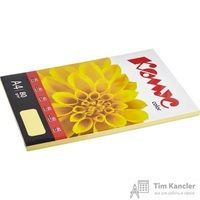 Бумага цветная для офисной техники Комус Color желтая пастель (А4, 80 г/кв.м, 100 листов)