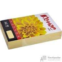 Бумага цветная для офисной техники Комус Color желтая пастель (А4, 80 г/кв.м, 500 листов)