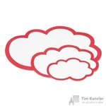 Карты модерационные фигурные Облака 23х14.5 см белые/красные (20 штук в упаковке)