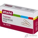 Скрепки Attache металлические золотистые 50 мм (50 штук в упаковке)