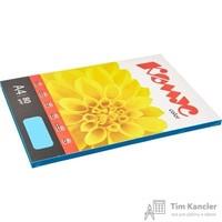Бумага цветная для офисной техники Комус Color голубая интенсив (А4, 80 г/кв.м, 100 листов)