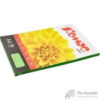 Бумага цветная для офисной техники Комус Color зеленая интенсив (А4, 80 г/кв.м, 100 листов)