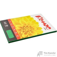 Бумага цветная для офисной техники Комус Color изумруд интенсив (А4, 80 г/кв.м, 100 листов)
