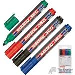 Набор маркеров для досок Edding e-360/4S 4 цвета (толщина линии 1.5-3 мм)