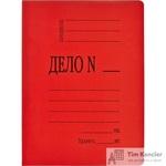 Папка-скоросшиватель Дело № А4 картонная 360 г/кв.м красная