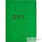 Папка-скоросшиватель Дело № А4 картонная 360 г/кв.м зеленая