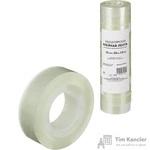 Клейкая лента канцелярская прозрачная 15 мм х 33 м (12 штук в упаковке)
