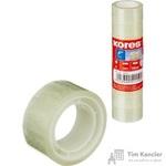 Клейкая лента канцелярская Kores прозрачная 19 мм х 10 м (8 штук в упаковке)
