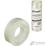 Клейкая лента канцелярская Комус прозрачная 15 мм х 33 м (10 штук в упаковке)