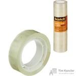 Клейкая лента канцелярская Scotch прозрачная 12 мм х 10 м (12 штук в упаковке)