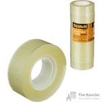 Клейкая лента канцелярская Scotch прозрачная 19 мм х 33 м (8 штук в упаковке)