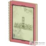 Бизнес-тетрадь Attache Selection Oldtown А5 80 листов розовая в клетку на спирали (210x1490 мм)