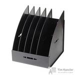 Вертикальный накопитель Attache пластиковый черный ширина 235 мм 5 отделений