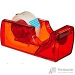 Диспенсер Attache Town для клейкой ленты красный с лентой 15мм х 10м в комплекте