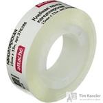 Клейкая лента канцелярская Attache прозрачная 15 мм х 33 м (пластиковая втулка)