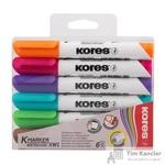 Набор маркеров для досок Kores 6 цветов (толщина линии 3 мм)