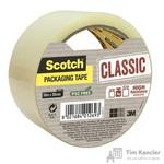 Клейкая лента упаковочная Scotch Classic Hot Melt прозрачная 50 мм x 50 м толщина 42 мкм (суперклейкая)