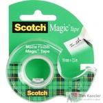 Клейкая лента канцелярская Scotch Magic прозрачная 19 мм х 7.5 м
