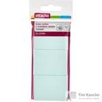 Стикеры Attache 38х51 мм пастельные голубые (3 блока по 100 листов)