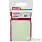 Стикеры Attache 76x51 мм пастельные салатовые (1 блок, 100 листов)