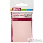 Стикеры Attache 76х51 мм пастельные розовые (1 блок, 100 листов)