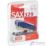 Степлер-мини Sax 329 до 20 листов синий