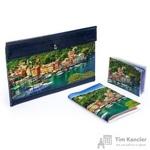 Комплект Eshemoda Портофино (конверт для путешествий + обложка на паспорт + визитница) из натуральной кожи цветной (55105013)