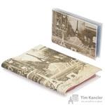 Комплект Eshemoda Paris (обложка на паспорт + визитница) из натуральной кожи серого цвета (56136000)