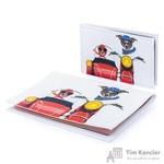 Комплект Eshemoda Dogs bikers (обложка на паспорт + визитница) из натуральной кожи цветной (56006000)