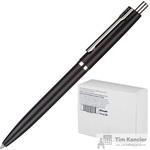 Ручка шариковая автоматическая Комус синяя (черный корпус, толщина линии 0.5 мм)