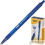 Ручка шариковая масляная автоматическая BIC Round Stic Clic синяя (толщина линии 0.4 мм)