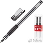 Ручка гелевая черная Attache для ЕГЭ (толщина линии 0.5 мм 2 штуки в упаковке)