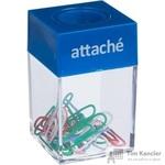 Скрепочница Attache магнитная пластиковая со скрепками