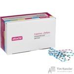 Скрепки Attache Зебра цветные полимерные 33 мм (70 шт в упаковке)