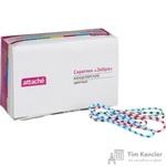 Скрепки Attache Зебра цветные полимерные 50 мм (50 шт в упаковке)