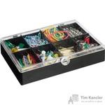 Набор канцелярский Attache Selection 8 отделений (канцелярские скрепки, кнопки, банковская резинка, зажимы для бумаг)