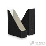 Вертикальный накопитель Комус картонный черный ширина 75 мм (2 штуки в упаковке)