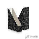 Вертикальный накопитель Attache Economy Мрамор картонный черный ширина 75 мм (2 штуки в упаковке)
