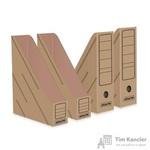 Вертикальный накопитель Attache картонный бурый ширина 75мм (4 штуки в упаковке)