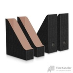 Вертикальный накопитель Attache картонный черный ширина 90 мм (4 штуки в упаковке)