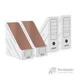 Вертикальный накопитель Attache картонный белый ширина 150 мм (4 штуки в упаковке)