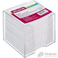 Блок для записей Attache 90x90x90 мм белый в боксе (плотность 100 г/кв.м)