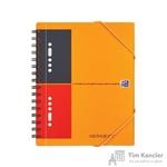 Бизнес-тетрадь Oxford Meetingbook А5+ 80 листов цветная в линейку на спирали (186x210 мм)