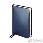 Ежедневник полудатированный Bruno Visconti Imperium натуральная кожа А5 208 листов синий (серебристый обрез, 145x216 мм)