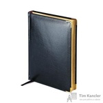 Ежедневник полудатированный Bruno Visconti Imperium натуральная кожа А5 208 листов черный (золотистый обрез, 145x216 мм)