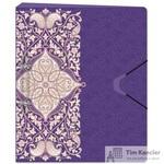 Папка на 2-х кольцах Комус Arabeska пластиковая 35 мм фиолетовая